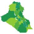 イラク 地図 モザイク