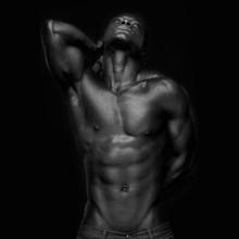 African American z mięśni