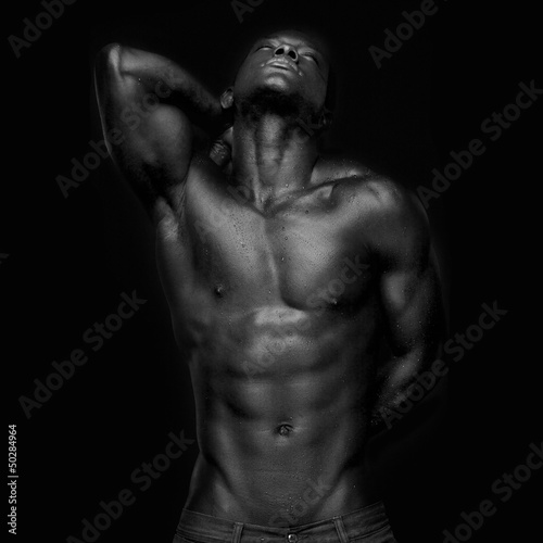 Leinwanddruck Bild African American with Muscles