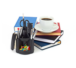 Set of office accessories.