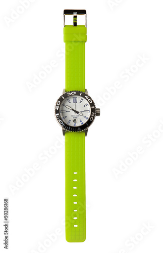 Fluor green sportive watch