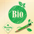 Bio Logo and Icon. Healthy fruits.