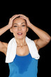 Fitness woman sweating