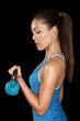 Fitness crossfit woman portrait