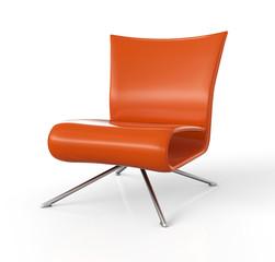 Moderner Sessel isoliert - Orange