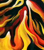 Abstract Lava Painting