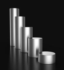 Abwärtstrend aus Silber - 3D Diagramm 2