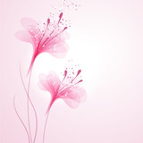 Fototapety vector background with Flowers