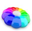 3D Farbkreis aus Tropfen 8