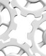 3D Zahnräder Weiß isoliert 2