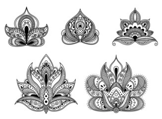 Abstract floral patterns in persian style