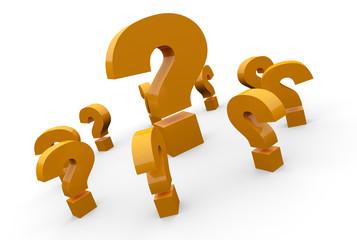 Fragen über Fragen Konzept - Orange