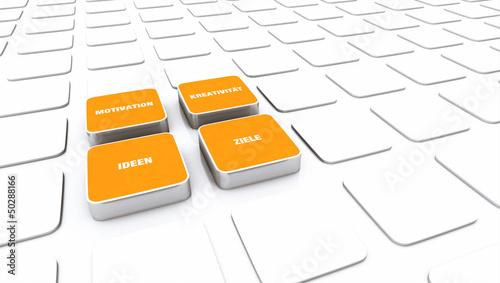 Pad Konzept Orange - Motivation Kreativität Ideen Ziele 3