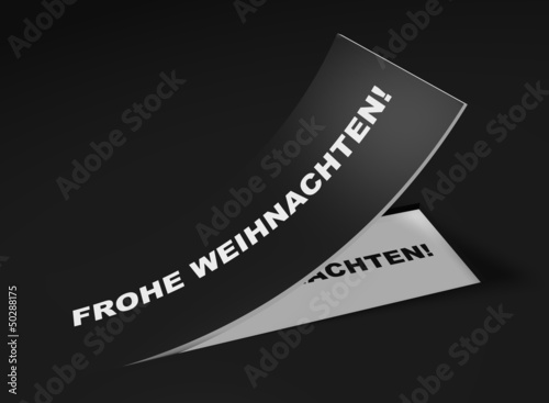3D Etikett Schwarz - Frohe Weihnachten!