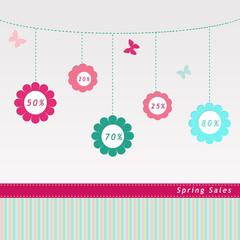 Etiqueta para Rebajas de Primavera