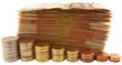 liasse de billets de 50 euros et pièces