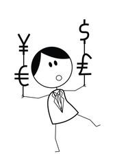 businessman scale value