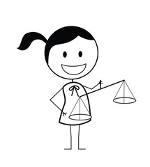 businesswoman scale