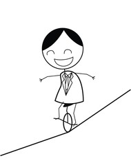 businessman rope