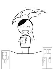 Businessman Protect Life Balance