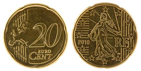 pièce de 20 cent, recto, verso