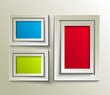 empty frame with places for design, eps10 vector background