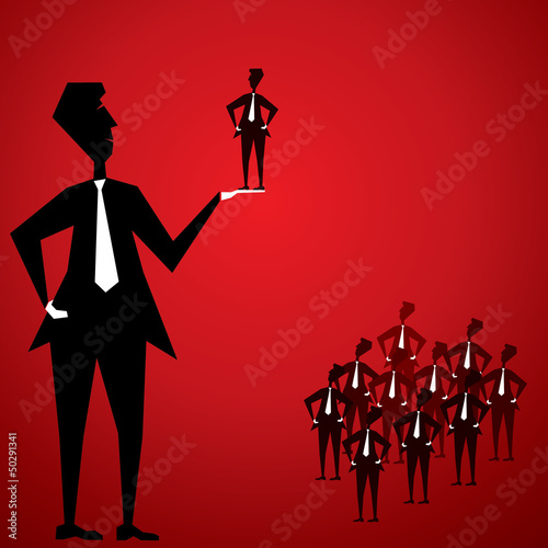recruitment concept stock vector