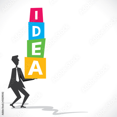 big idea block in hand