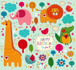 Vector Happy Birthday card