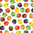 Multicolor peppers background