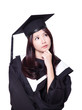 Female graduate think