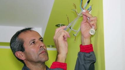 Man Doing Electrical Work