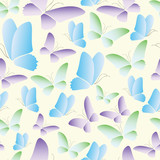 seamless butterflye abstract pattern vector