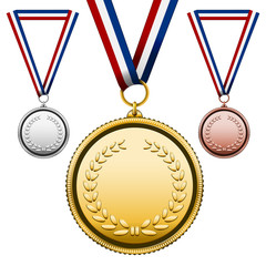 Medals with blank face
