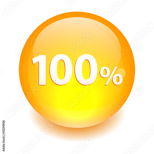 bouton sphere internet 100% orange