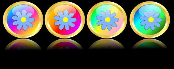 Bottoni primaverili con fiori