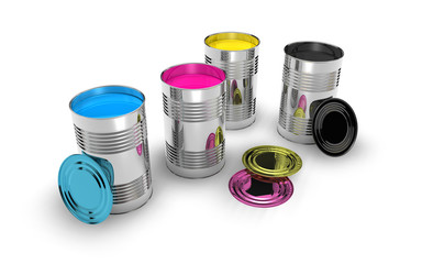 cmyk color cans