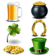 St Patricks day symbol set