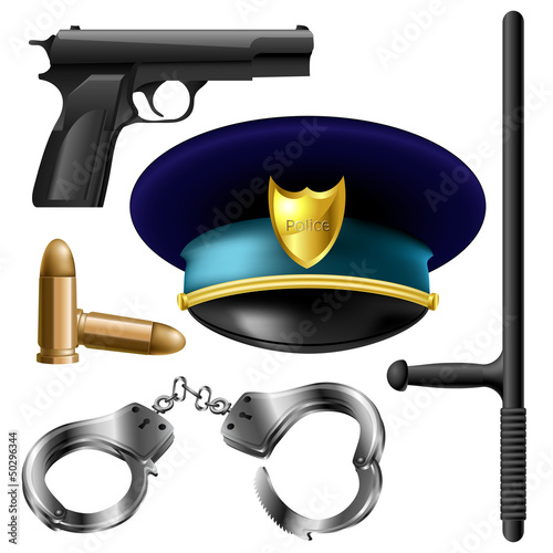 Police items set