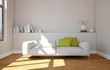 canvas print picture - modernes Sofa weiss
