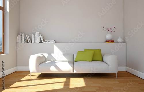 canvas print picture modernes Sofa weiss