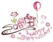 Geburtstag, Geschenke, birthday, vector