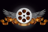 Film reel with wings
