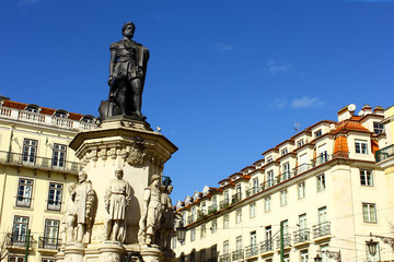 Camoes square, Lisbon, Portugal