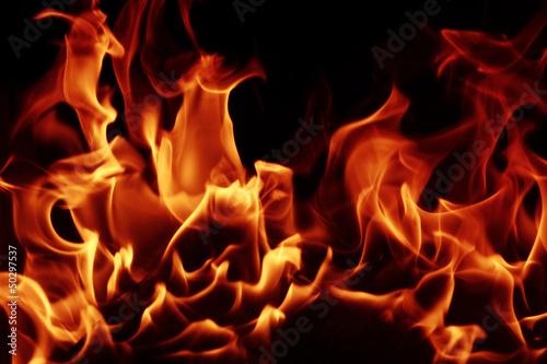 Foto op Aluminium Vuur / Vlam Fire flames
