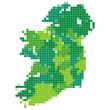アイルランド 地図 モザイク