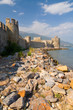Maumere fortress and sea near Anamur, Turkey