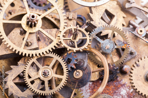 old gears and cogwheels