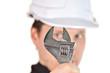 Handyman wearing uniform and hardhat