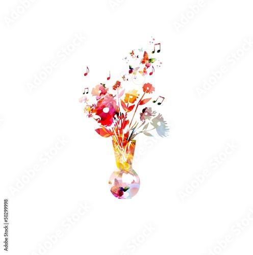 Colorful vase design